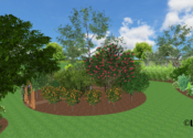 Edible Demonstration Garden Featuring Tropical Fruit Trees - Laveen, AZ © LADiva Artistry Landscape Design Solutions 2018