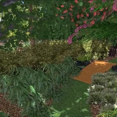 Bamboo Forest & River Design ©LADiva Artistry Landscape Design Solutions, specializing in edible & tropical garden design in Gilbert, AZ. Featuring Custom 2D Color Master Landscape Design Plans and 3D Virtual Walkthrough Tours. Cultivating beautiful, productive oases in the greater Phoenix, Arizona area showcasing tropical trees, fruit trees, edible plants & herbs in low maintenance, stunning gardens.